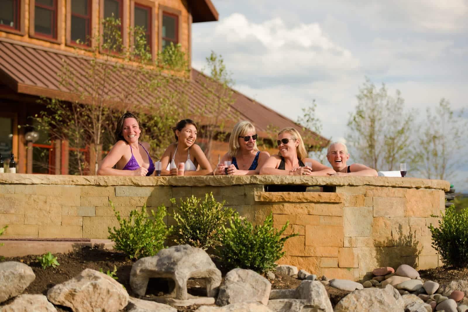 Iron Mountain Hot Springs Glenwood Springs Colorado Women in Pool