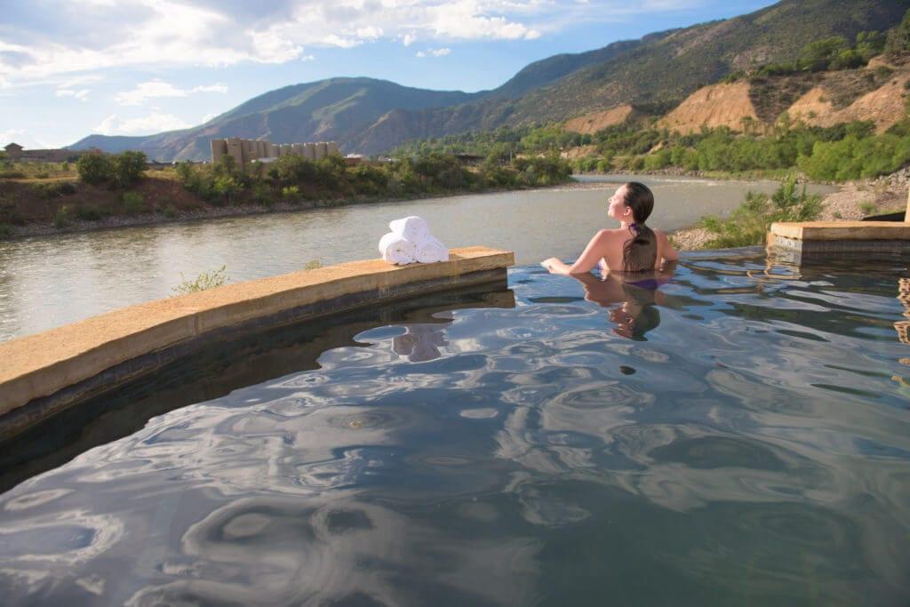 Iron Mountain Hot Springs Colorado River View Glenwood Springs
