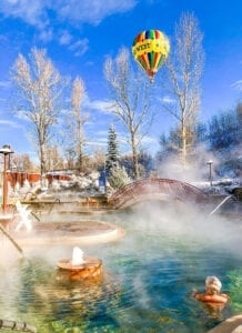 Old Town Hot Springs Pool Hot Air Baloon