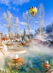 Old Town Hot Springs Pool Hot Air Baloon