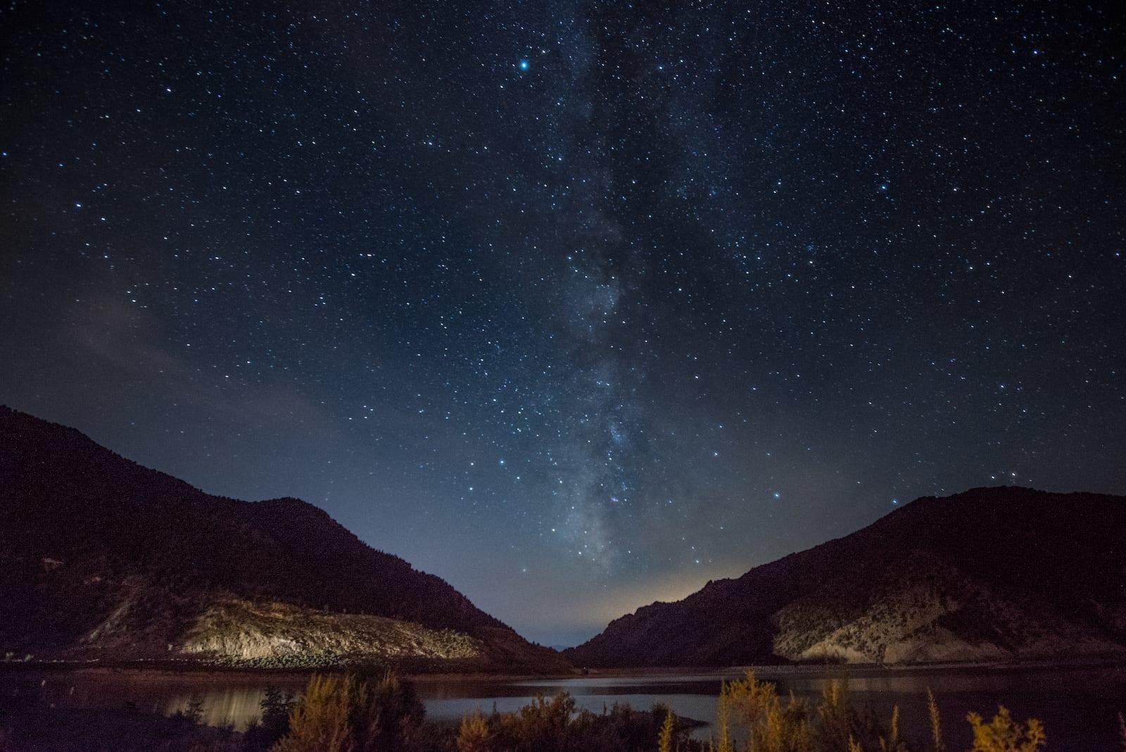 Camping Rifle Gap Reservoir Night Sky Stars