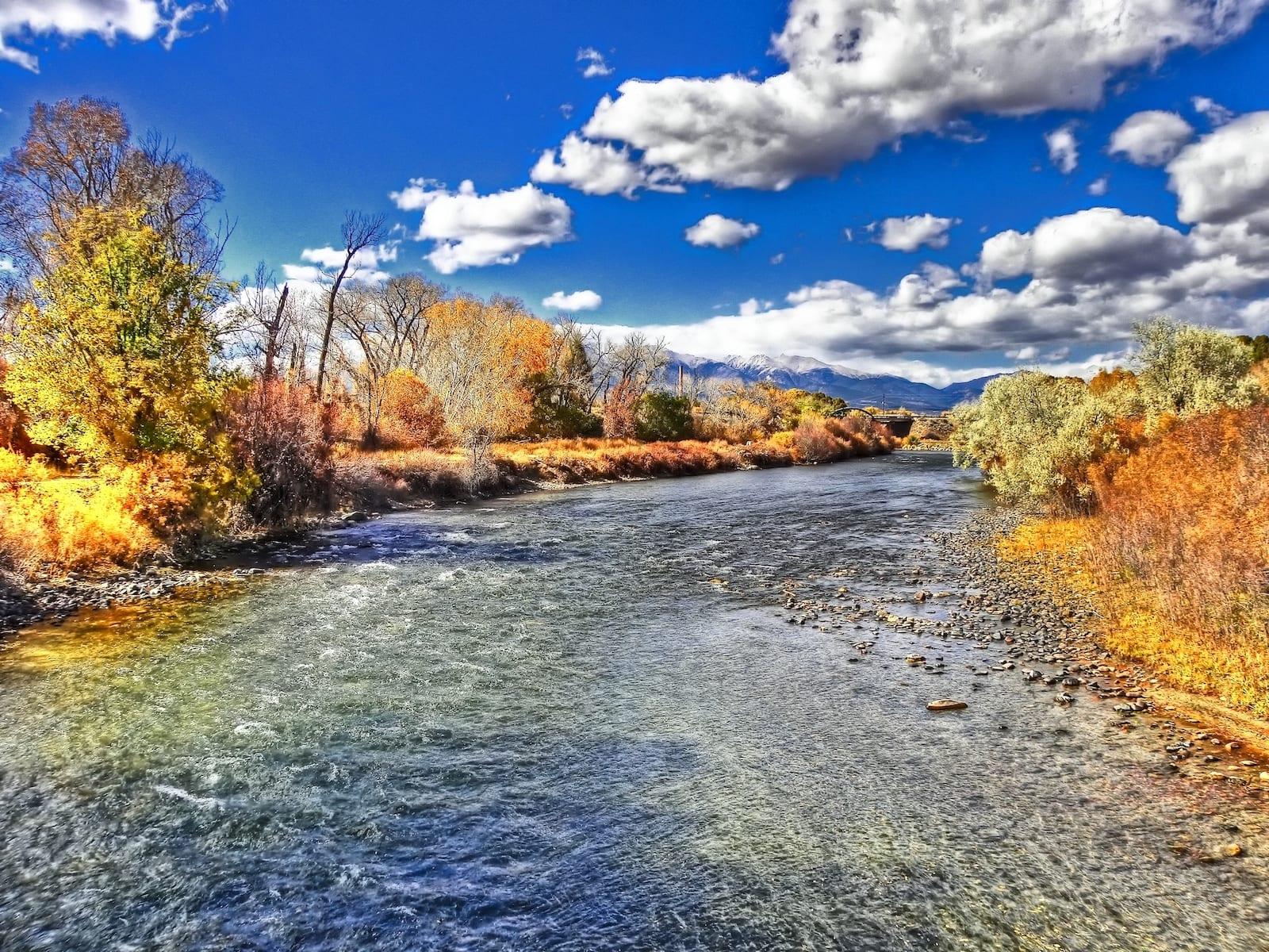 Arkansas river in October, CO