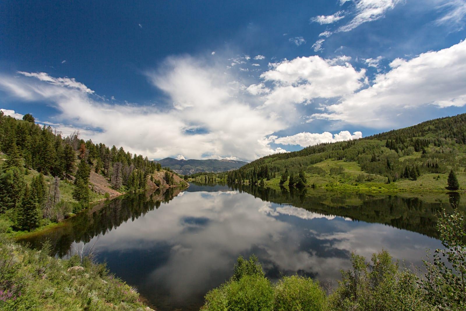 Beautiful hike around Lower Cataract Lake, Summit County, Colorado.