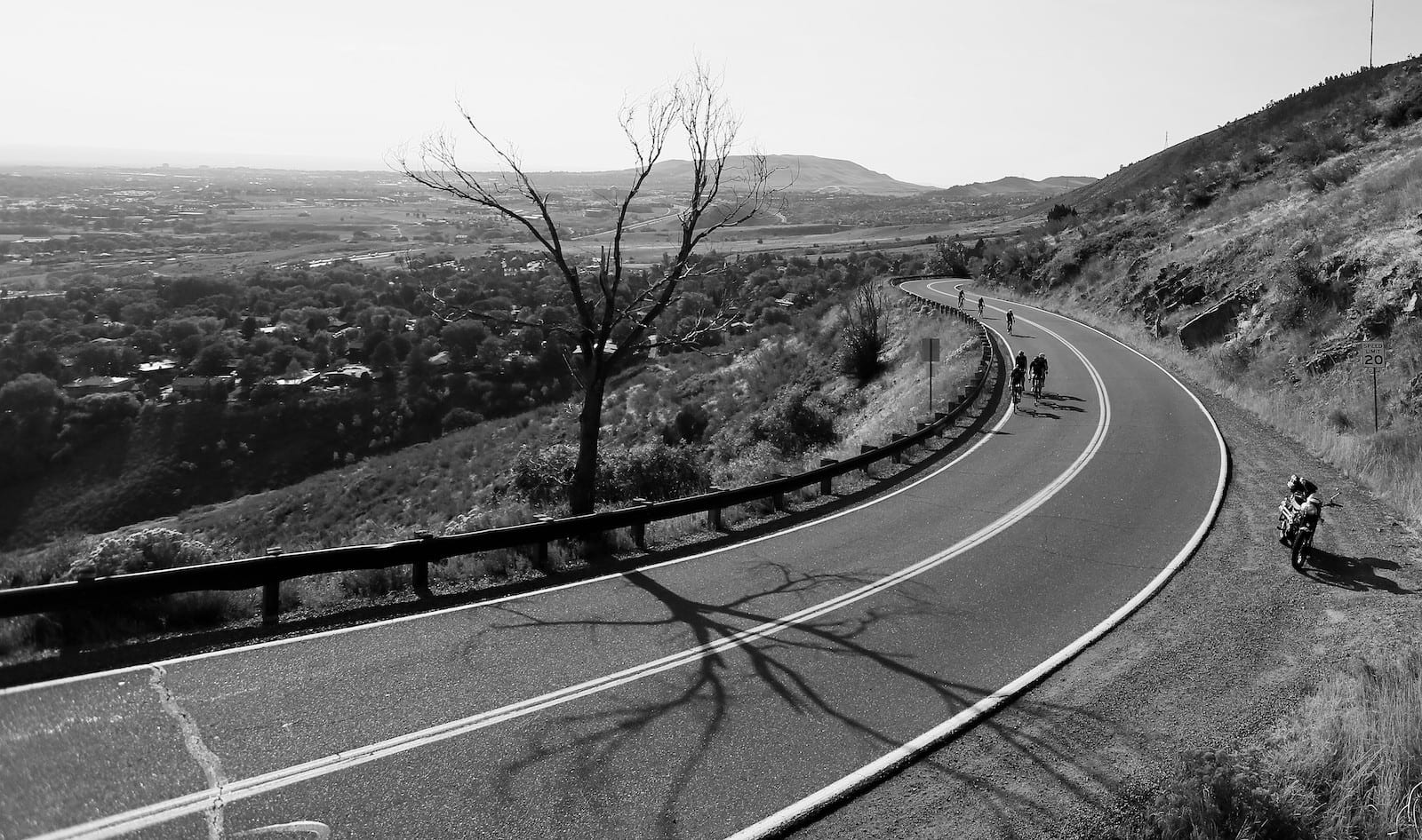 Bicycle race up Lookout Mountain, Golden, Colorado