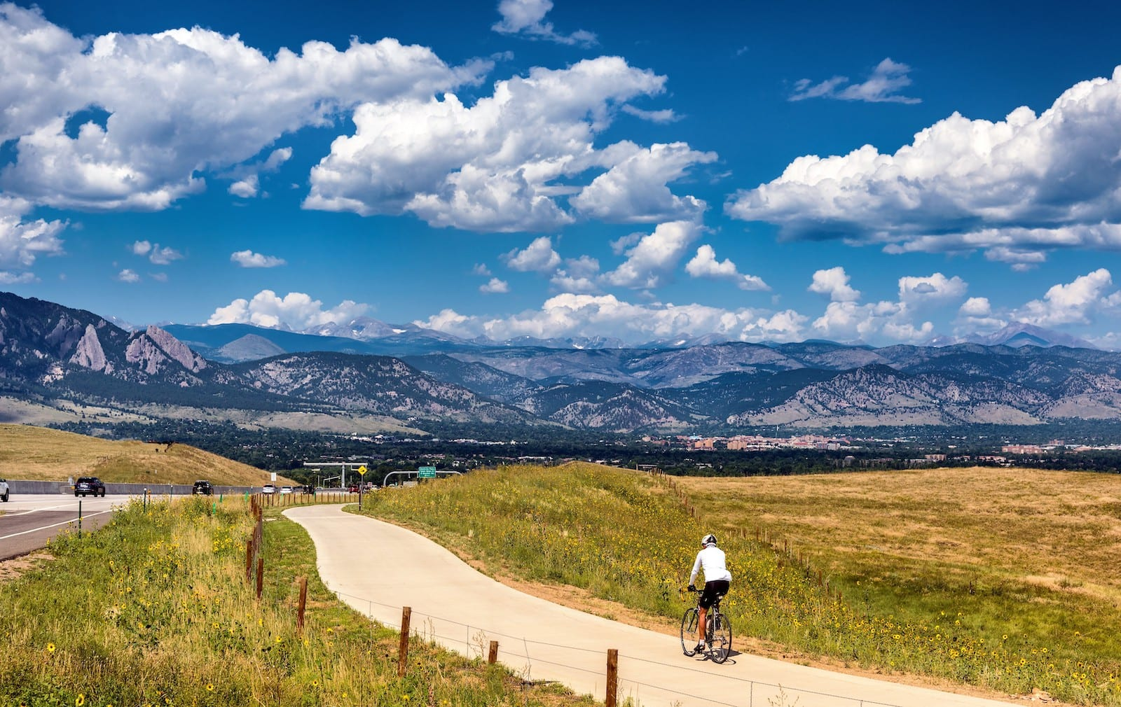Biking to Boulder Colorado