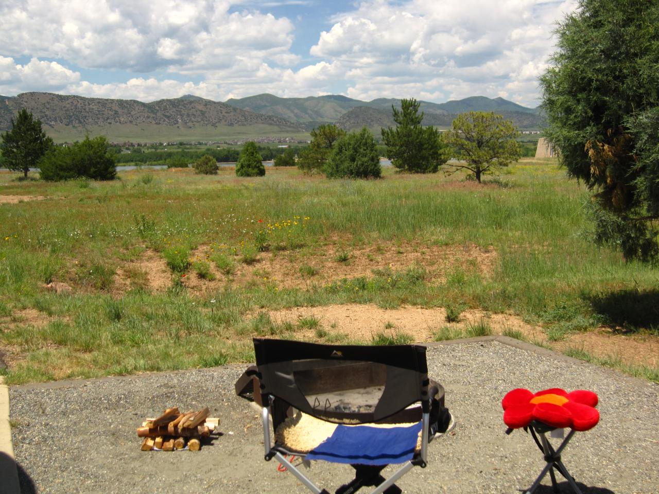 Camping at Chatfield, CO
