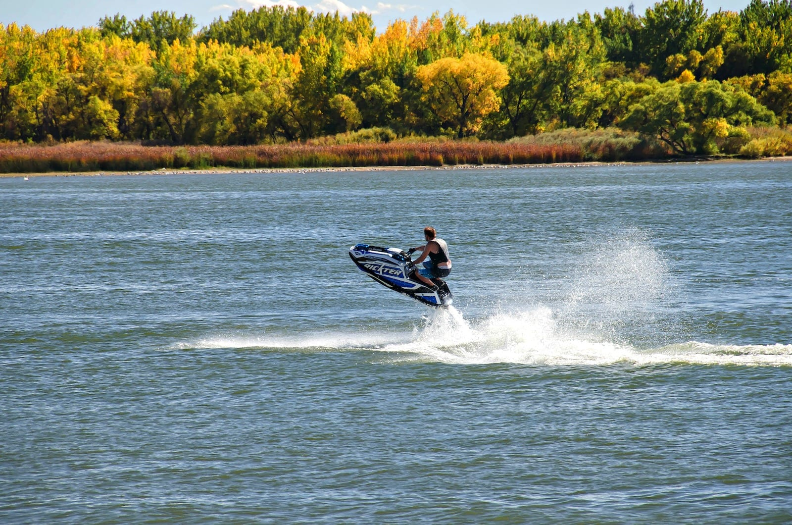 Jet skiing on Cherry Creek Reservoir, CO