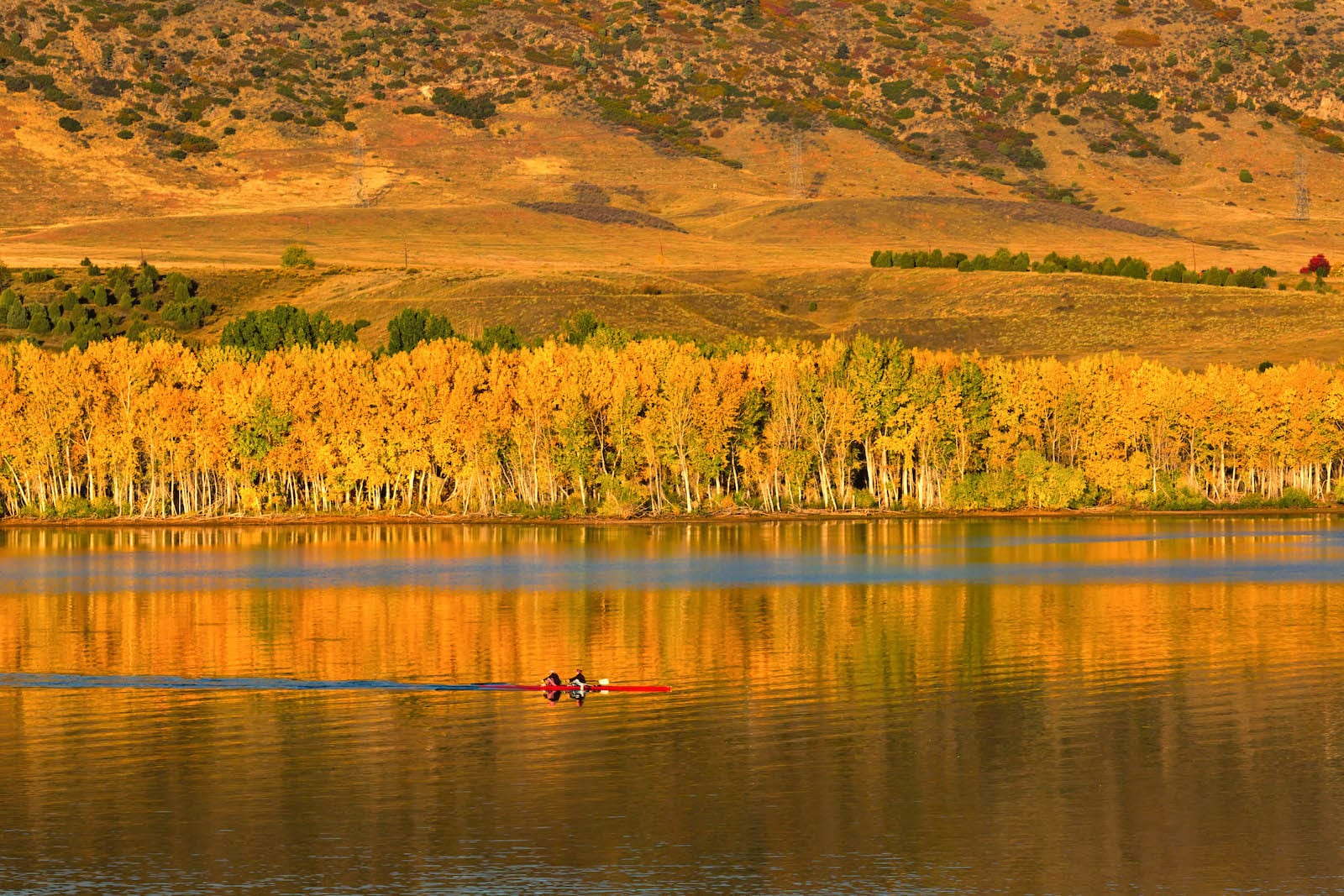Morning row at Chatfield State Park, Colorado