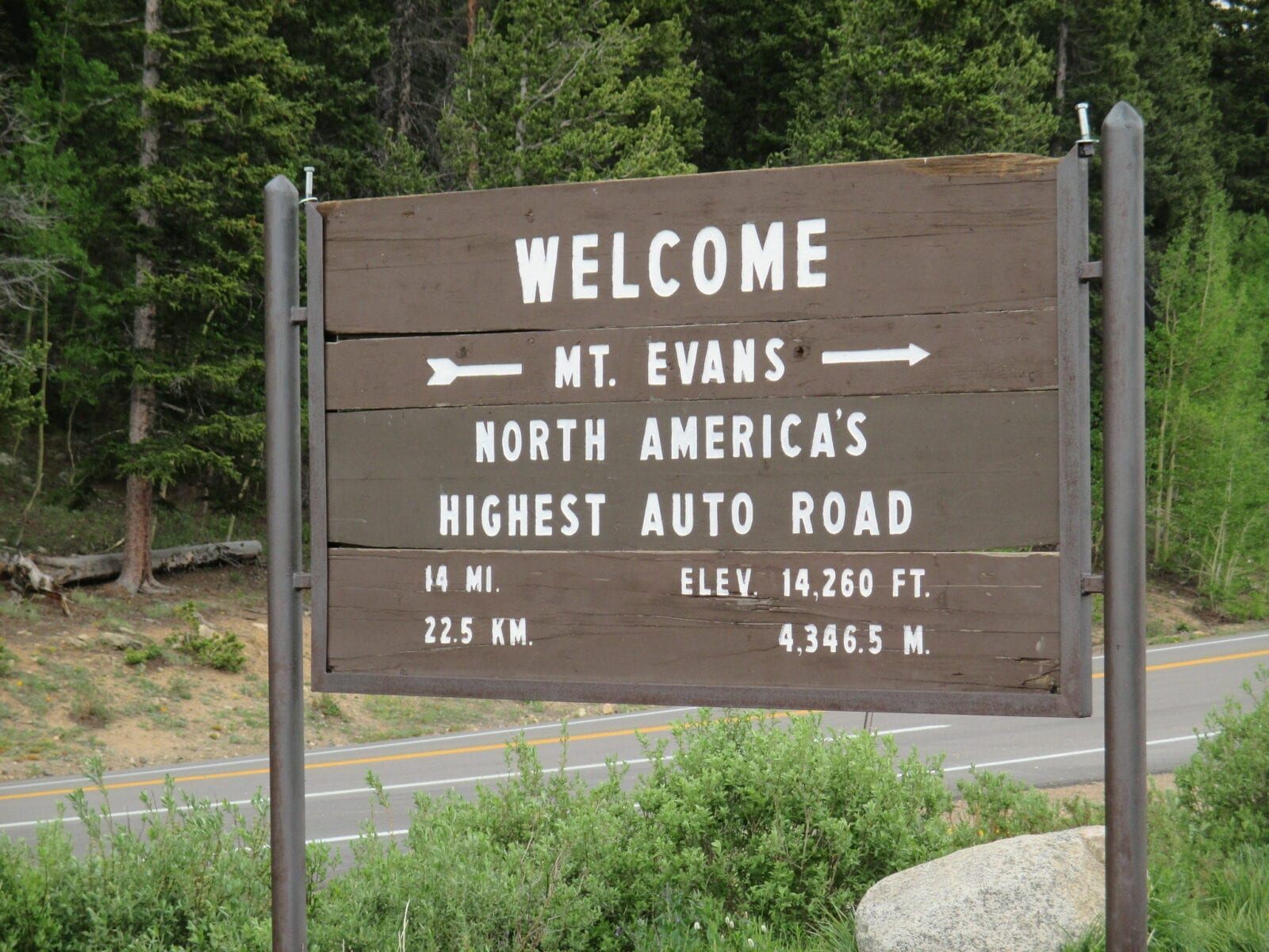 image of Mt. Evans Scenic byway