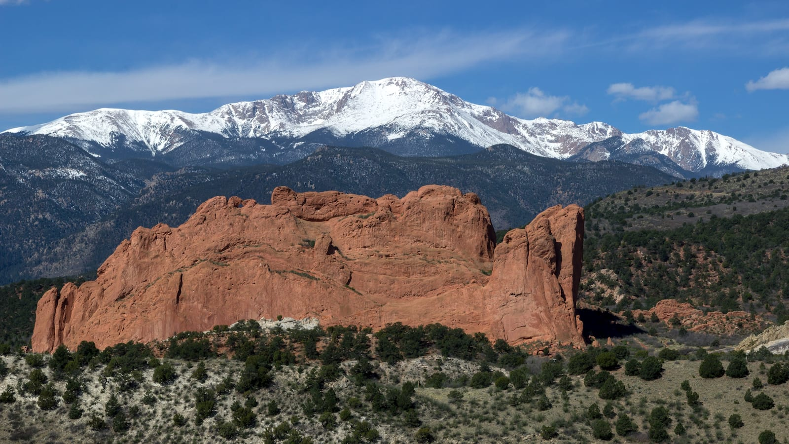 Pikes Peak and Garden of the Gods, Colorado