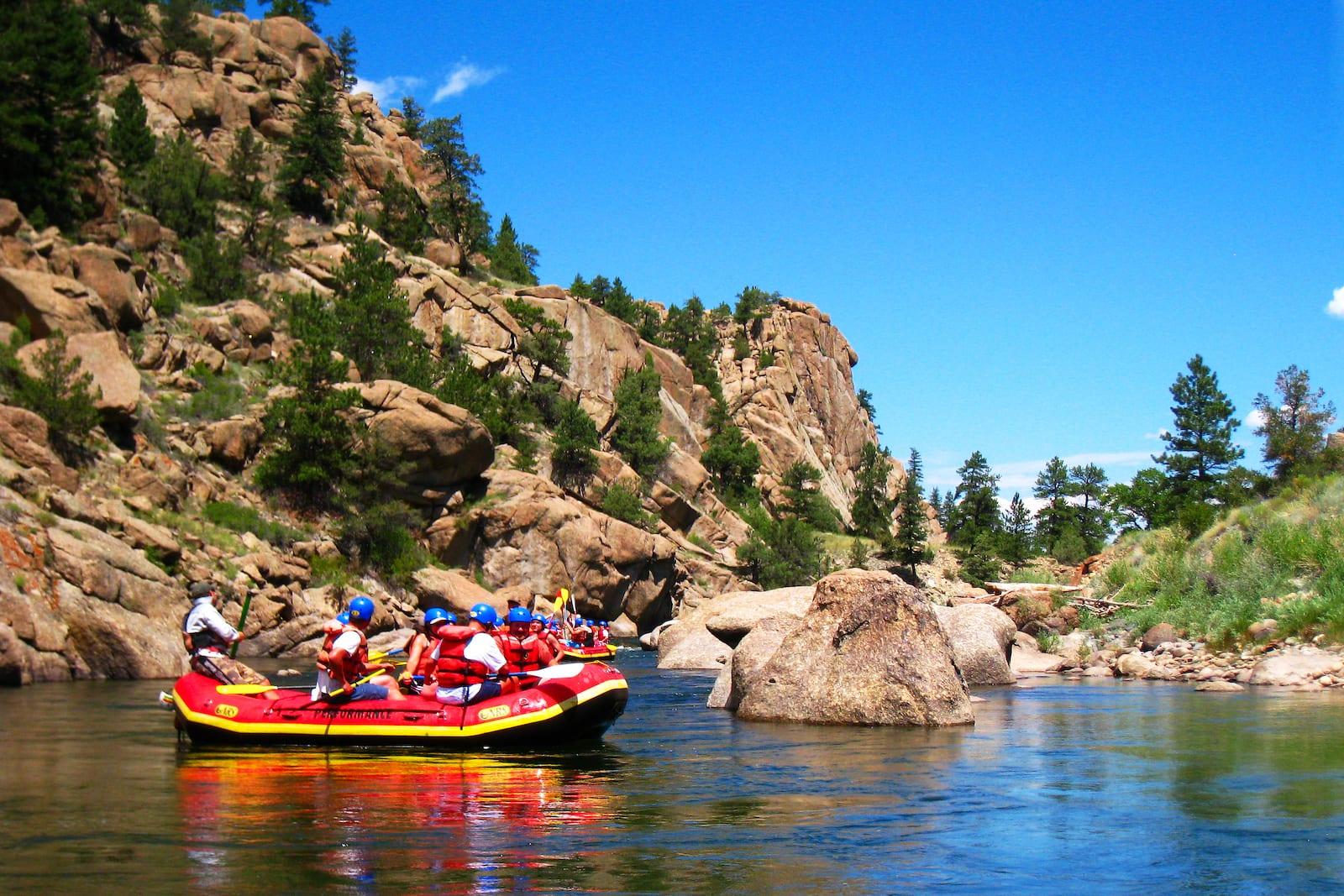 Rafts on Arkansas River, CO
