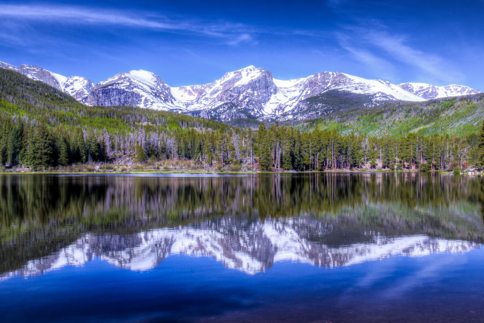 Rocky Mountain Reflection on Sprague Lake