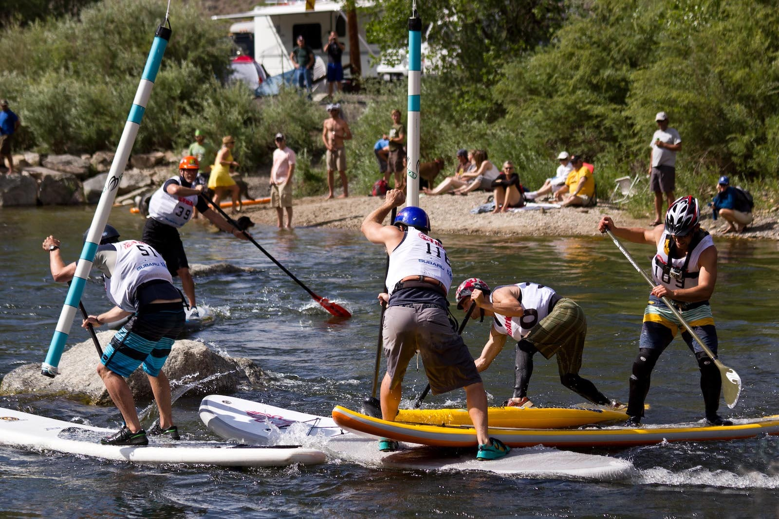 Mayhem in SUP Cross at the FIBArk Whitewater Festival.
