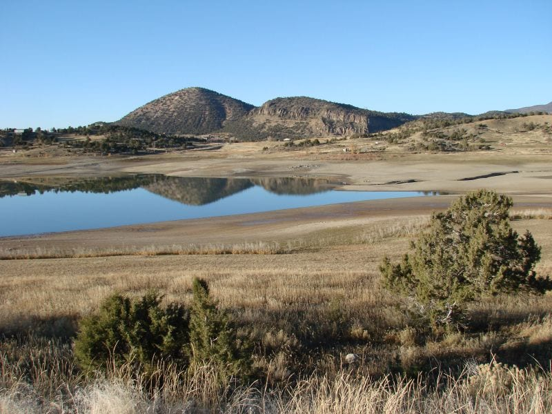 Very low reservoir level at Crawford State Park, CO