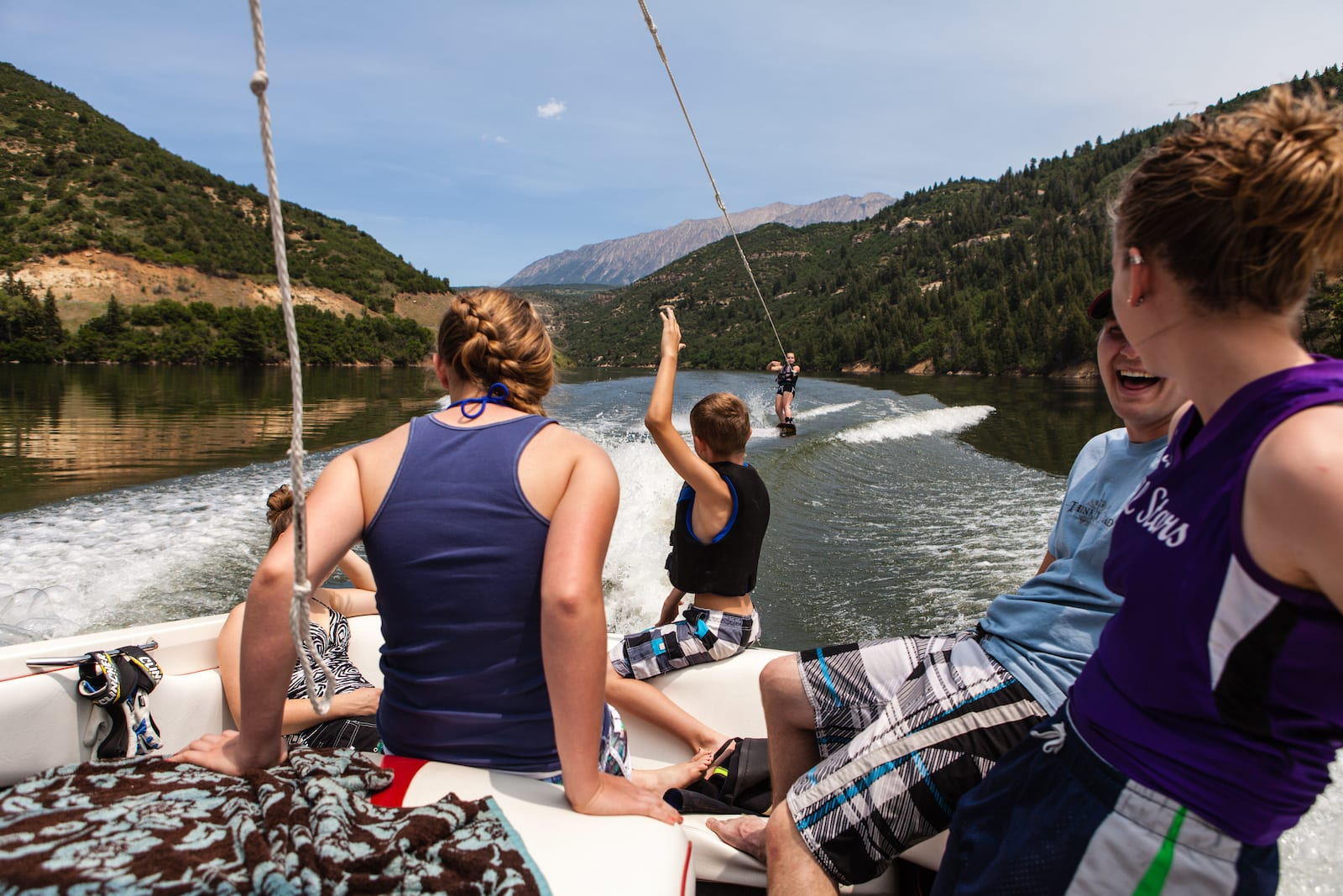 Wakeboarding at Paonia State Park