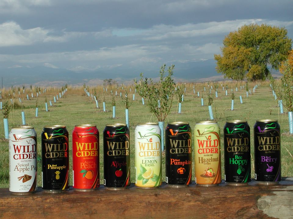 image of cider cans