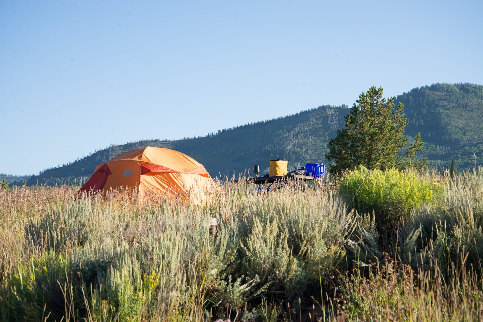 Campground Steamboat Lake State Park Colorado