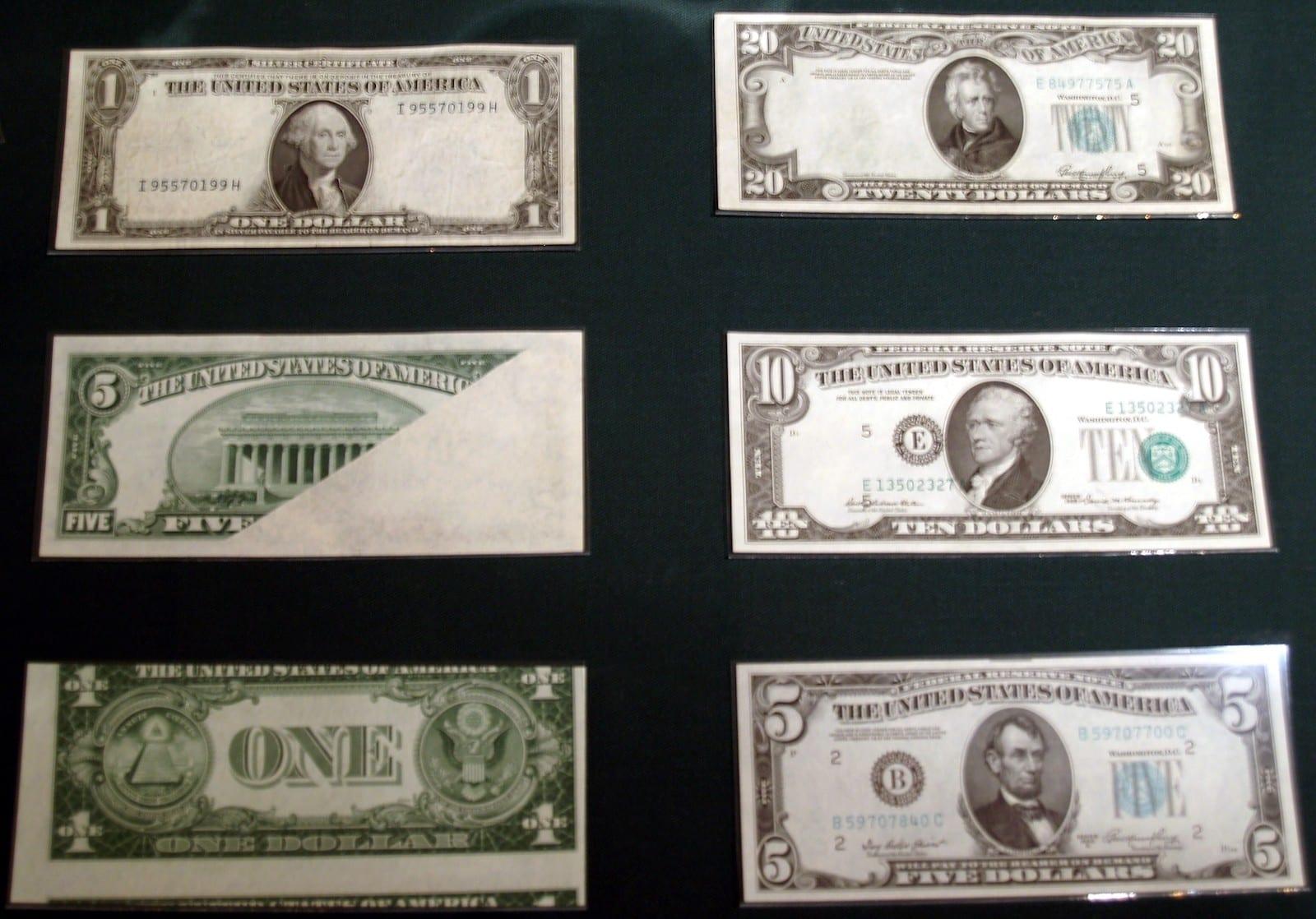 Colorado Springs Money Museum U.S. Currency Error Notes