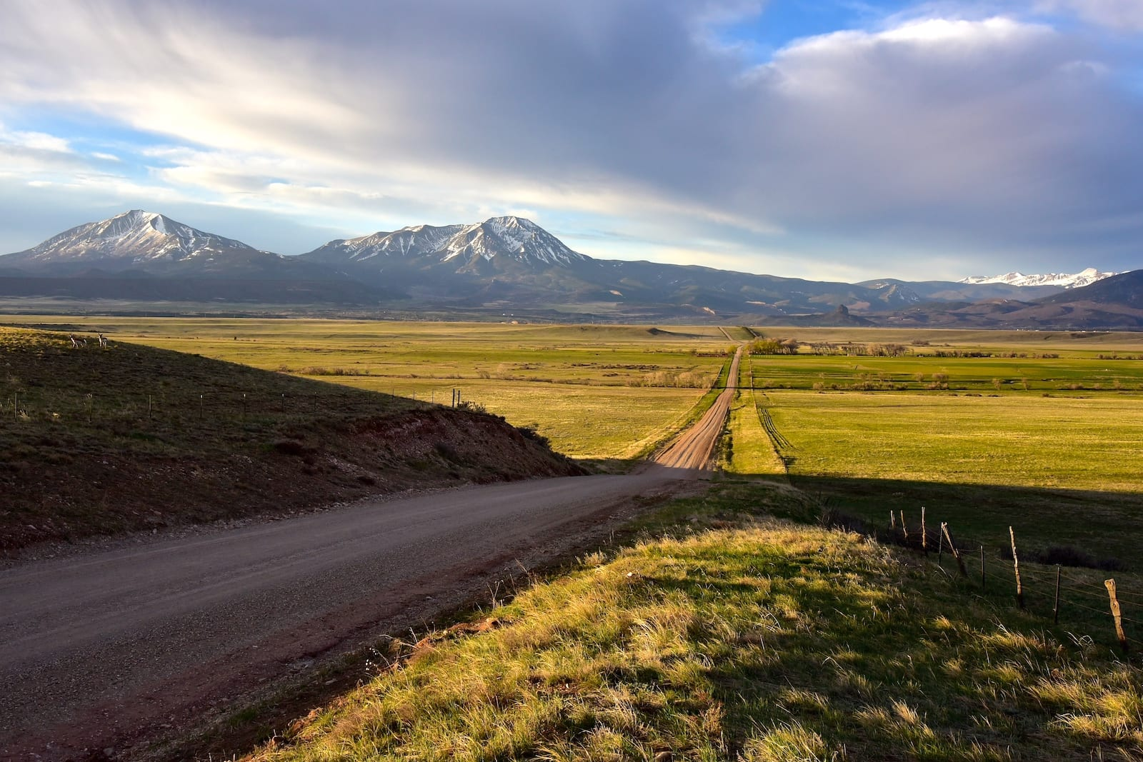 Spanish Peaks La Veta CO Country Road