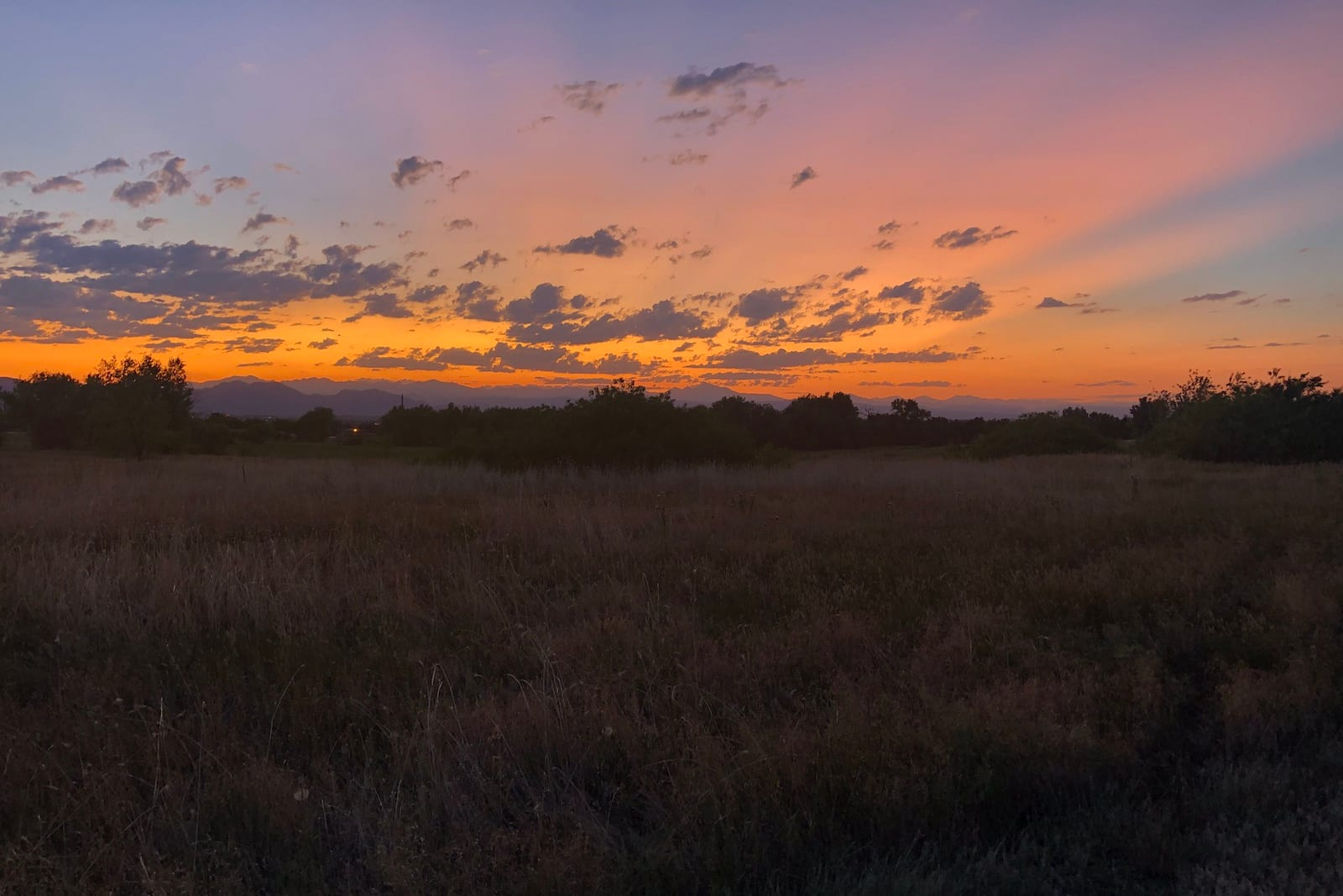 Northglenn Colorado Open Space Park Sunset