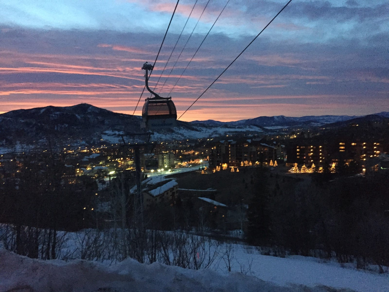 Steamboat Springs Gondola Sunset Mountain Village