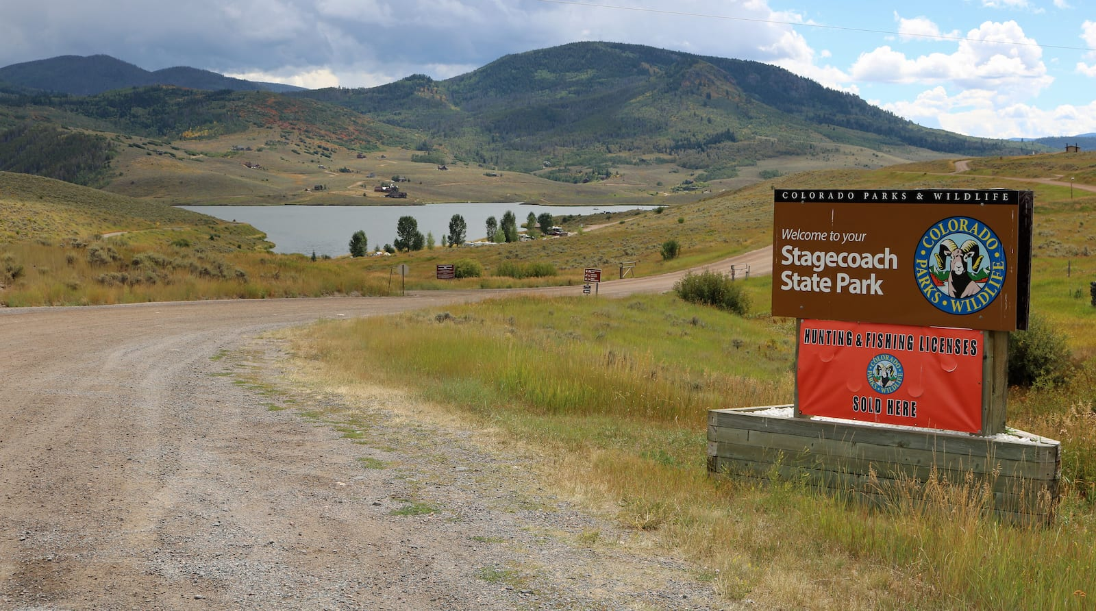 Stagecoach State Park Sign Oak Creek Colorado