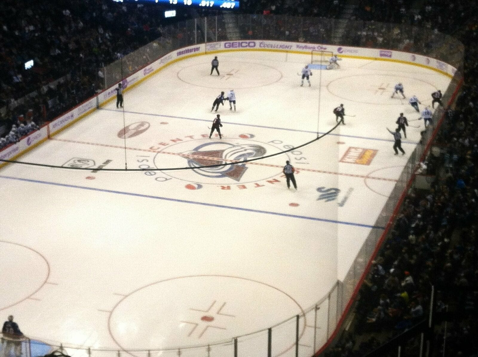 image of Avalanche hockey game
