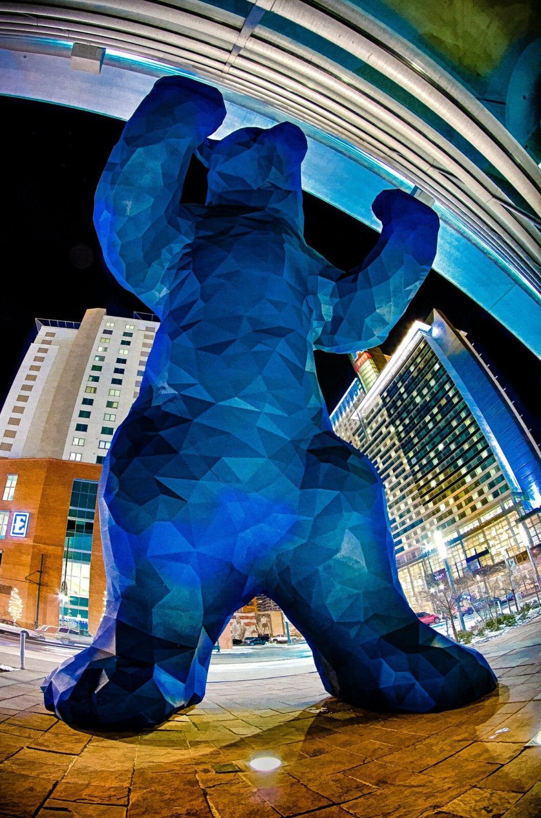image of the big blue bear