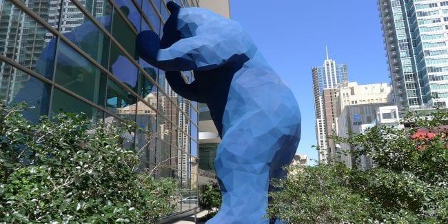 Denver S Big Blue Bear Statue Sculpture At Colorado