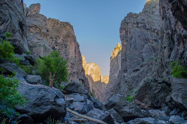 image of the black canyon