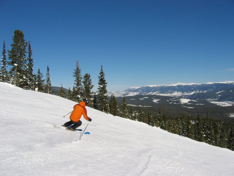 image of skier at breckenridge ski resort