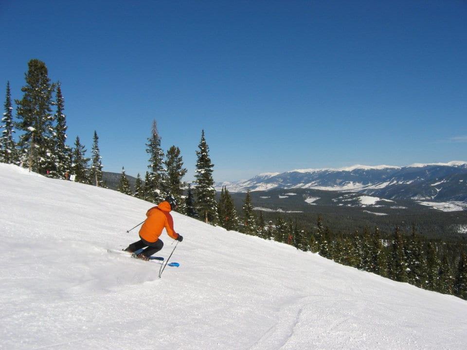 image of skier at breckenridge ski resort