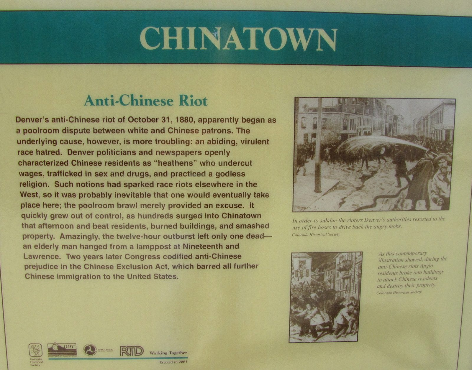 Chinatown riot, Denver, CO