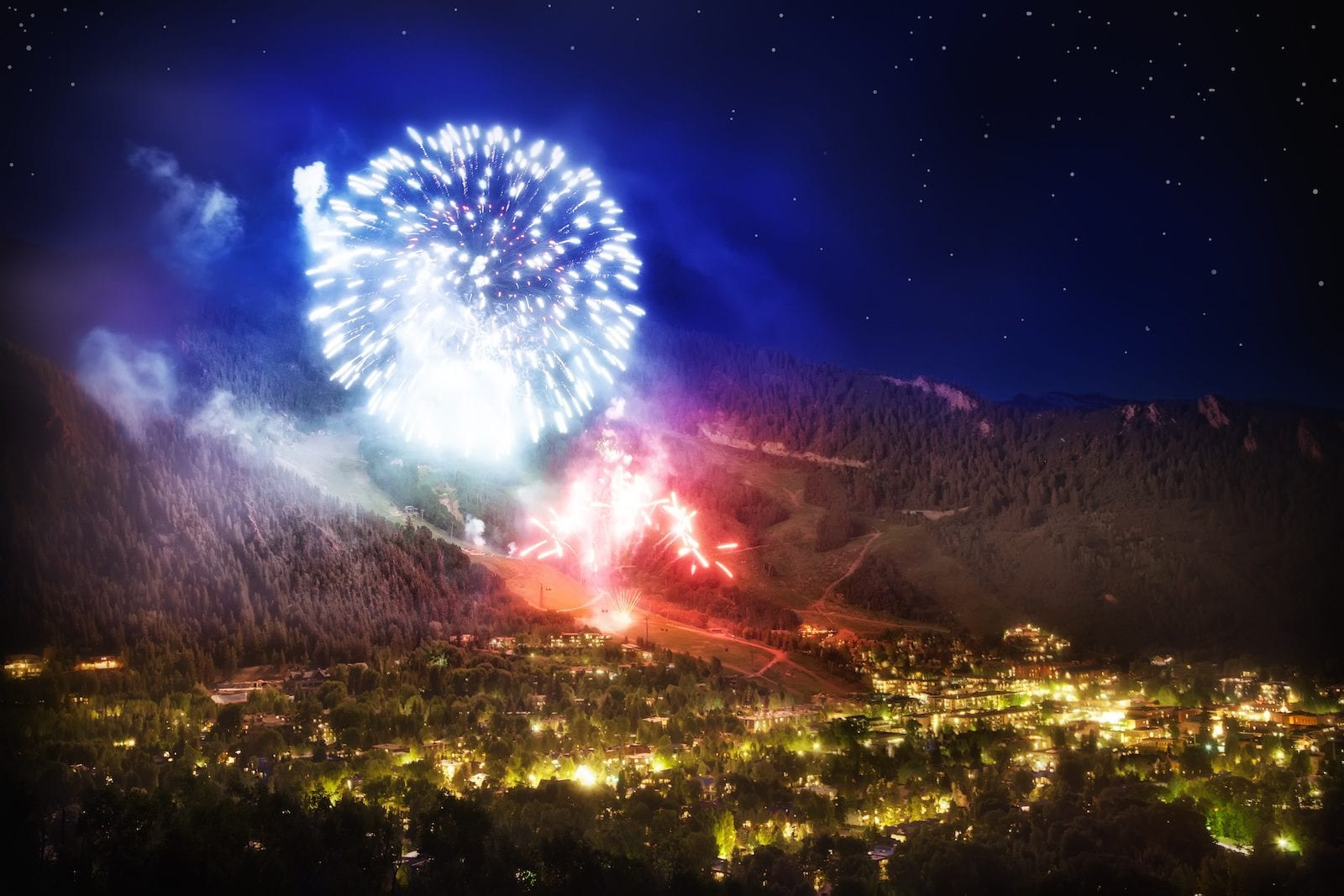 Fireworks at Aspen,CO