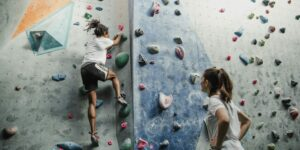 image of people climbing indoors