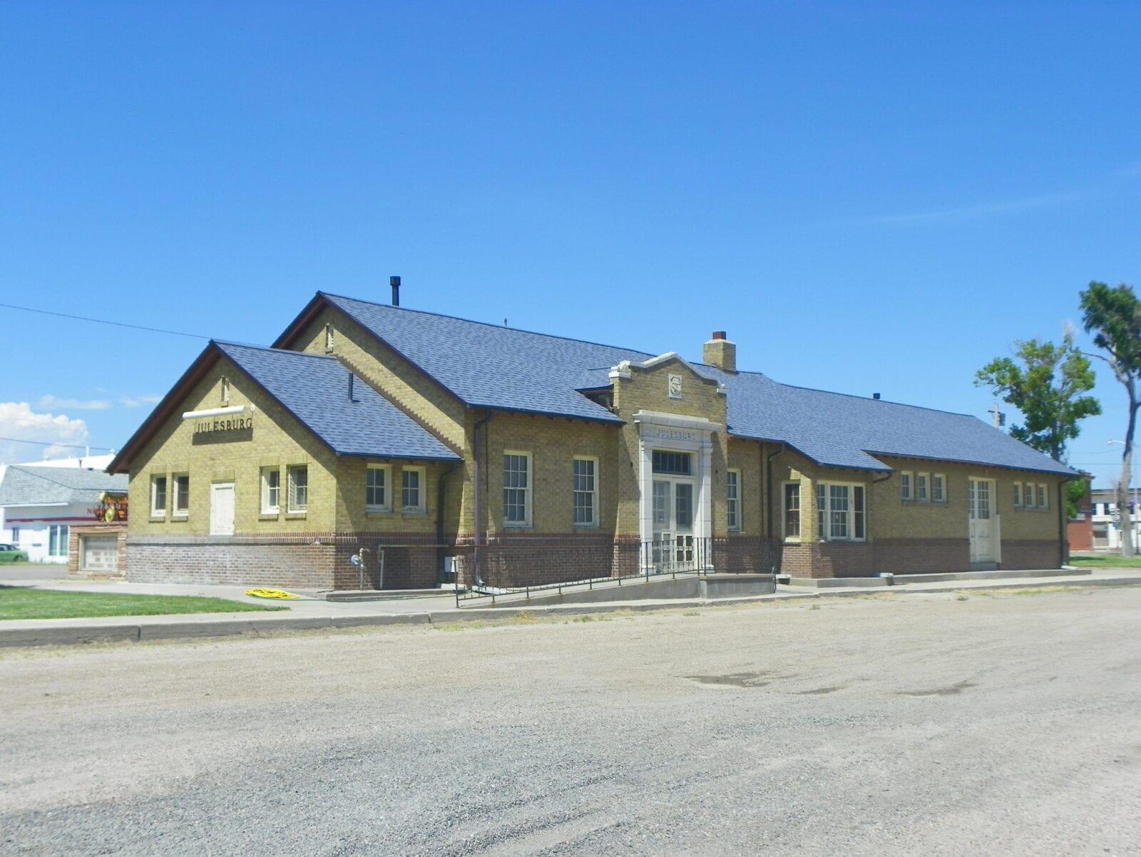 image of old railroad depot in Julseburg