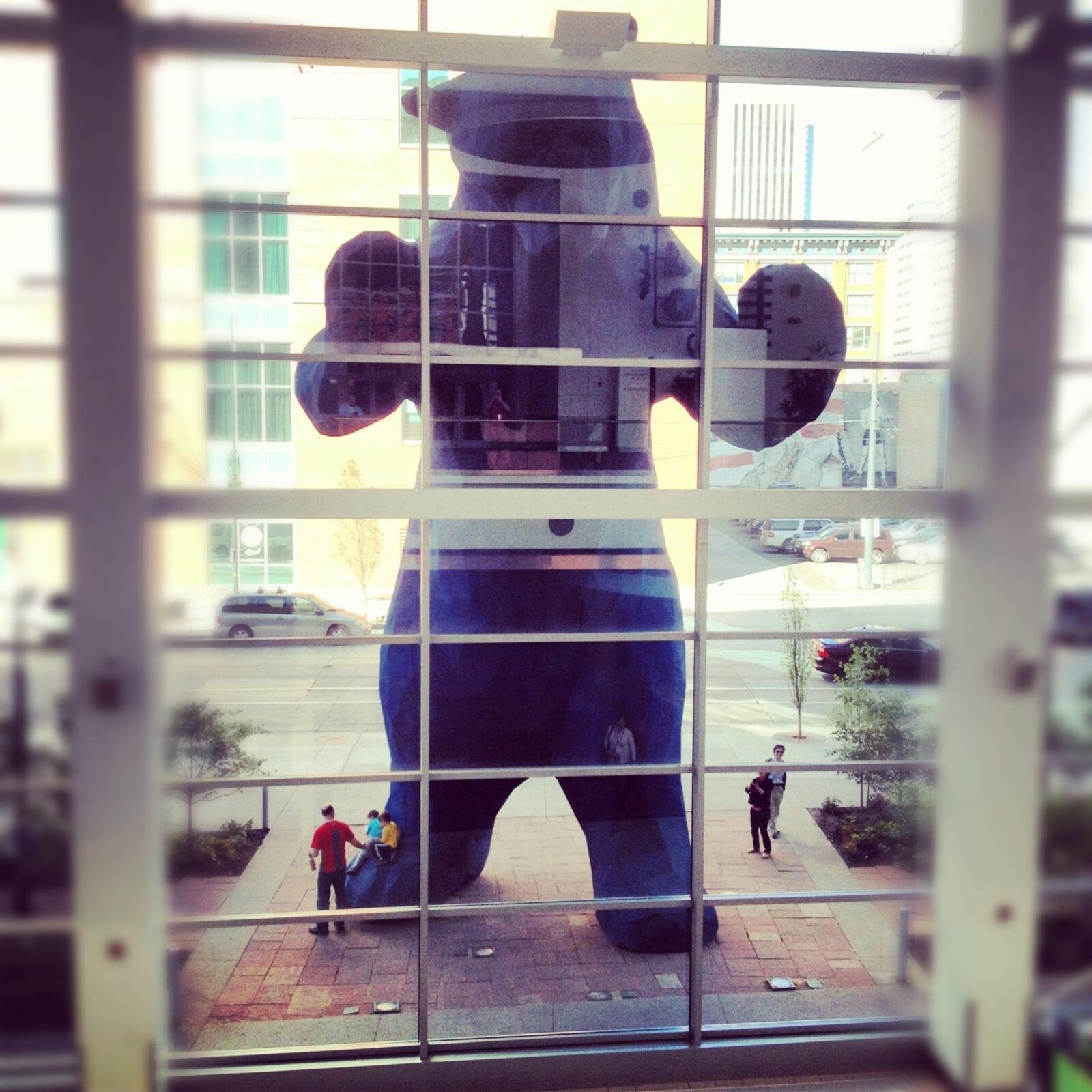 image of big blue bear
