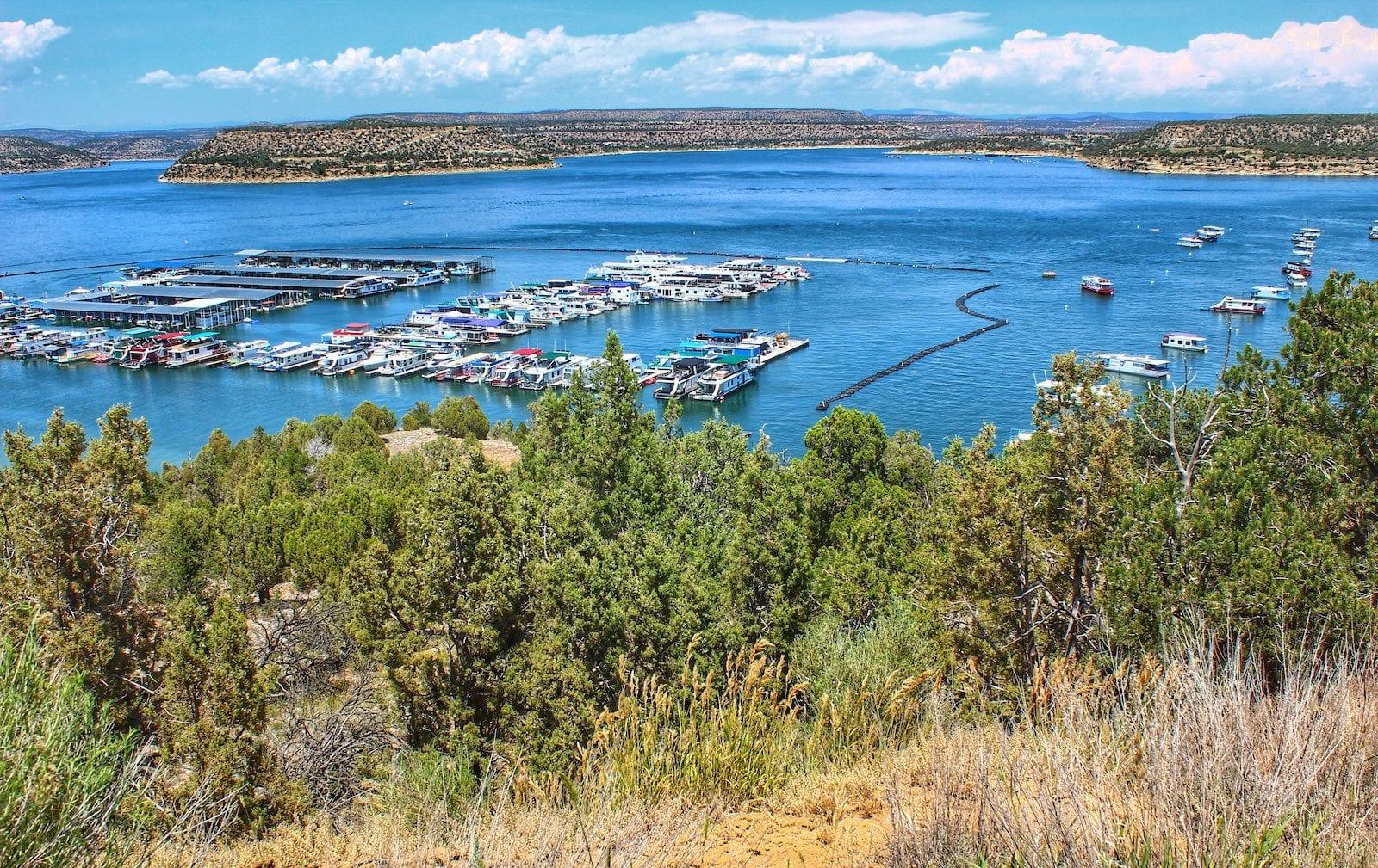 Navajo lake in New Mexico