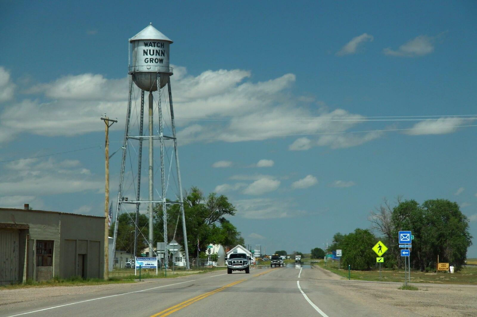 image of nunn water tower