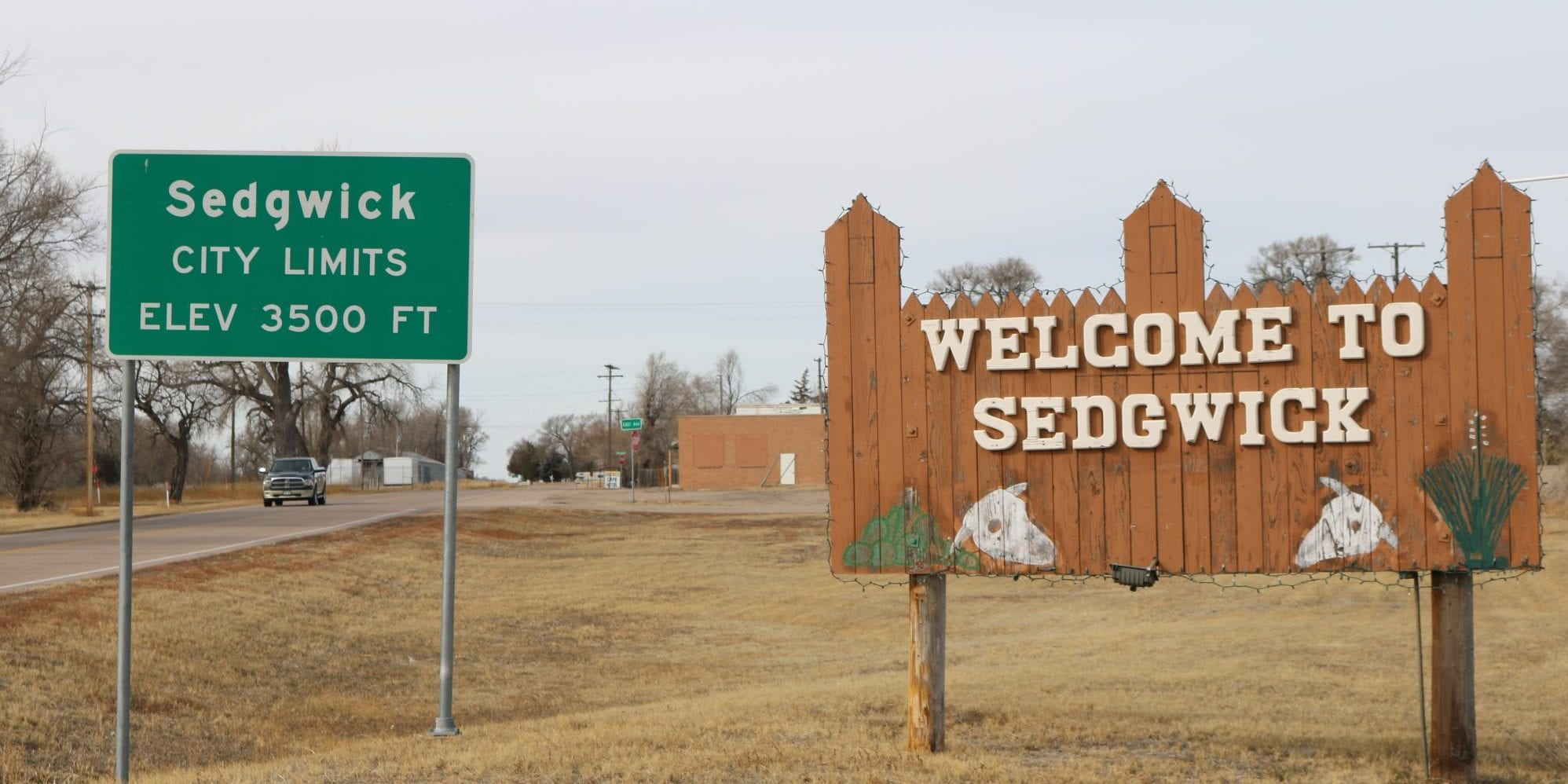image of the town of sedgwick