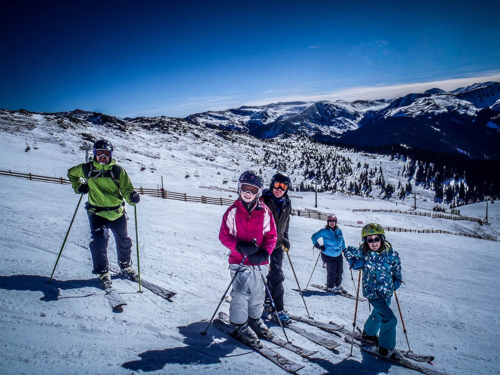 Skiing at A-Basin with the Coopers, Colorado