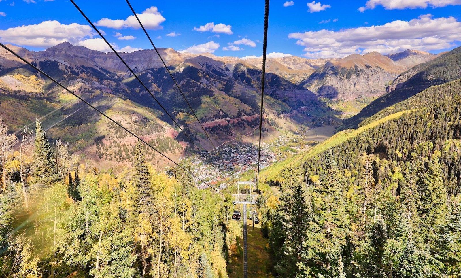 Taken from the free gondola over to Mountain Village at Telluride, Colorado