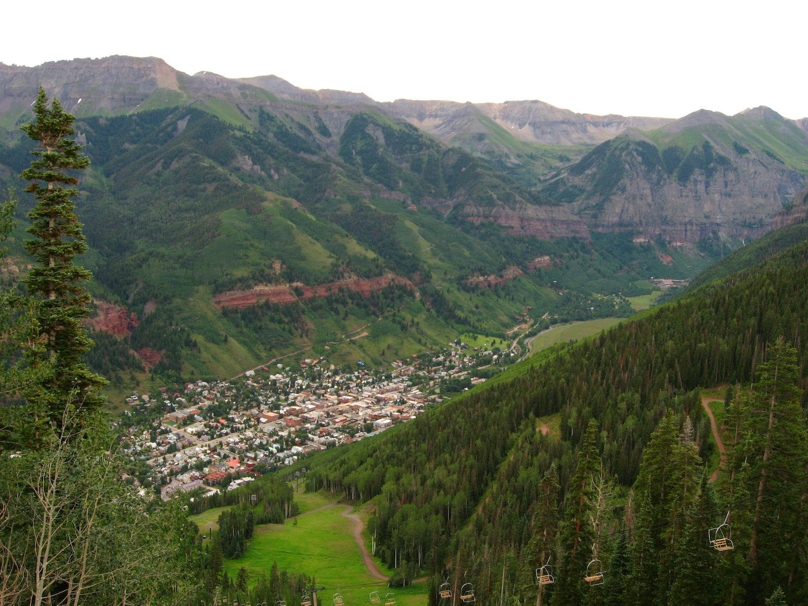 The town of Telluride, CO