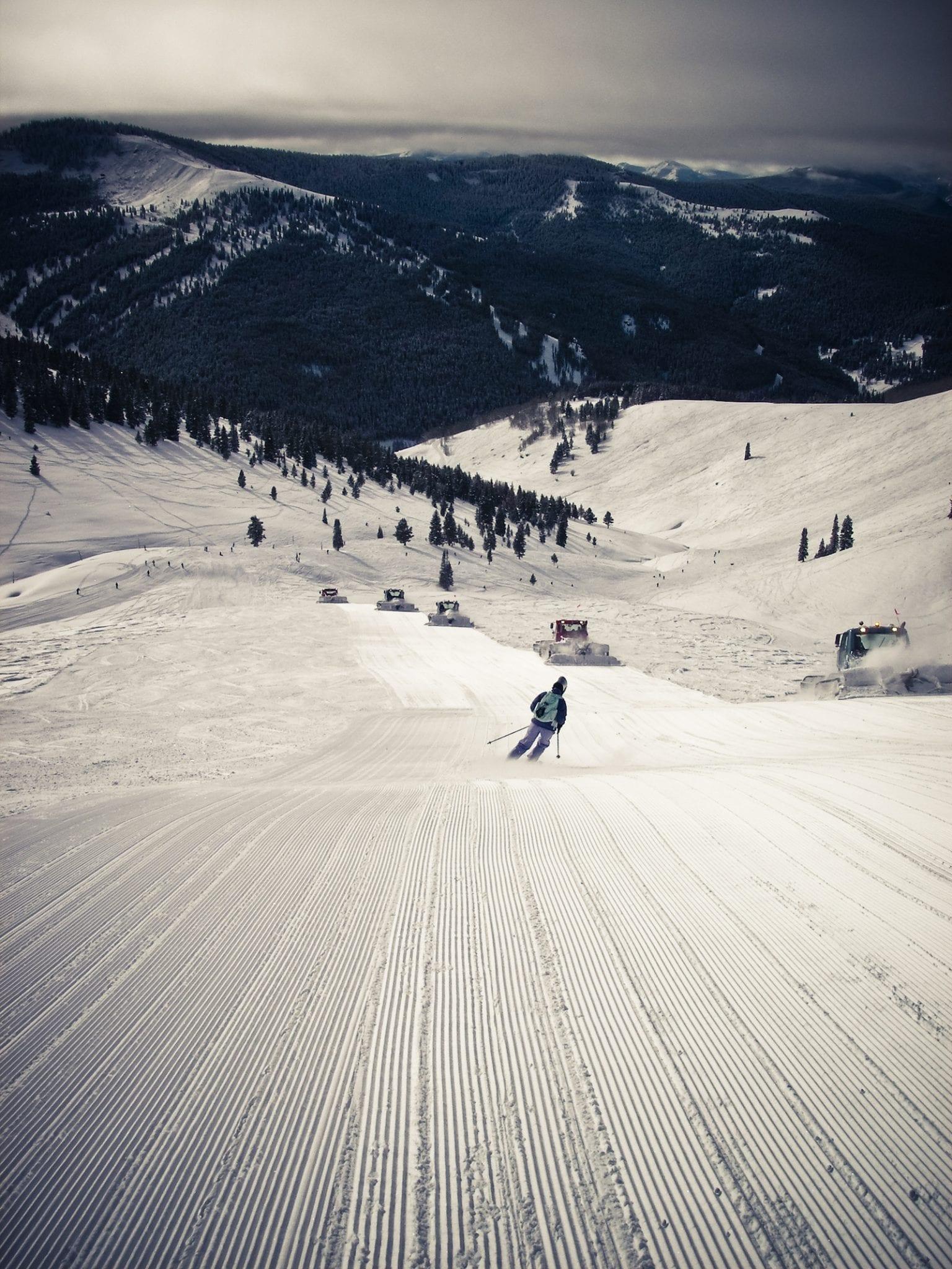 Vail Ski Resort Groomed Corduroy Trail