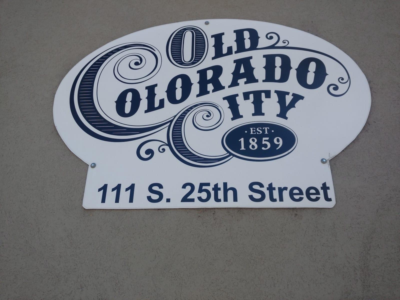 Old Colorado City Sign
