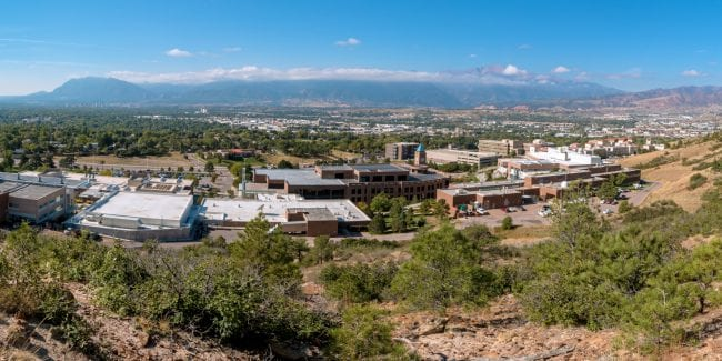 Panorama of the UCCS Campus and Colorado Springs