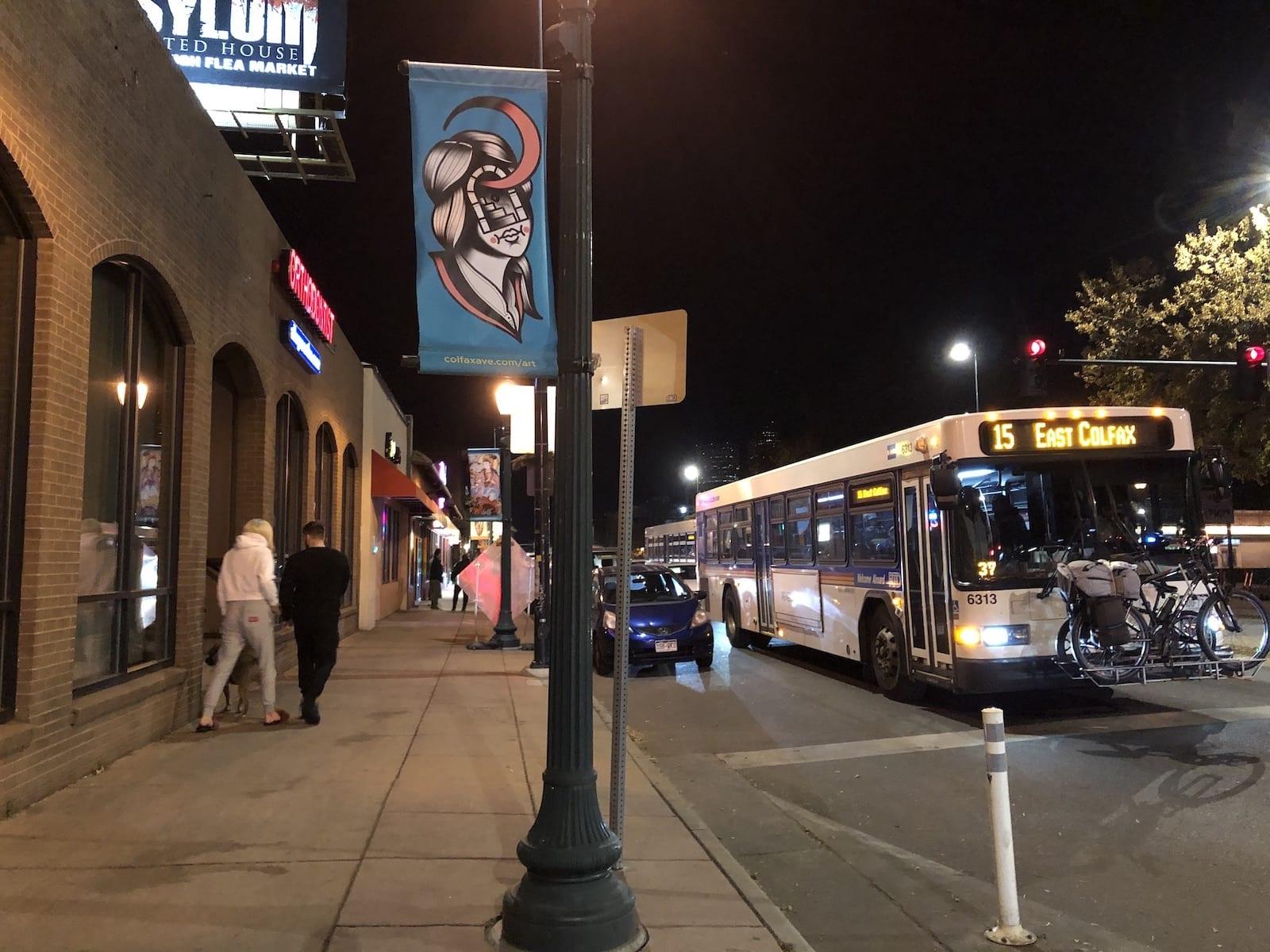 East Colfax Avenue 15 Bus Route Denver