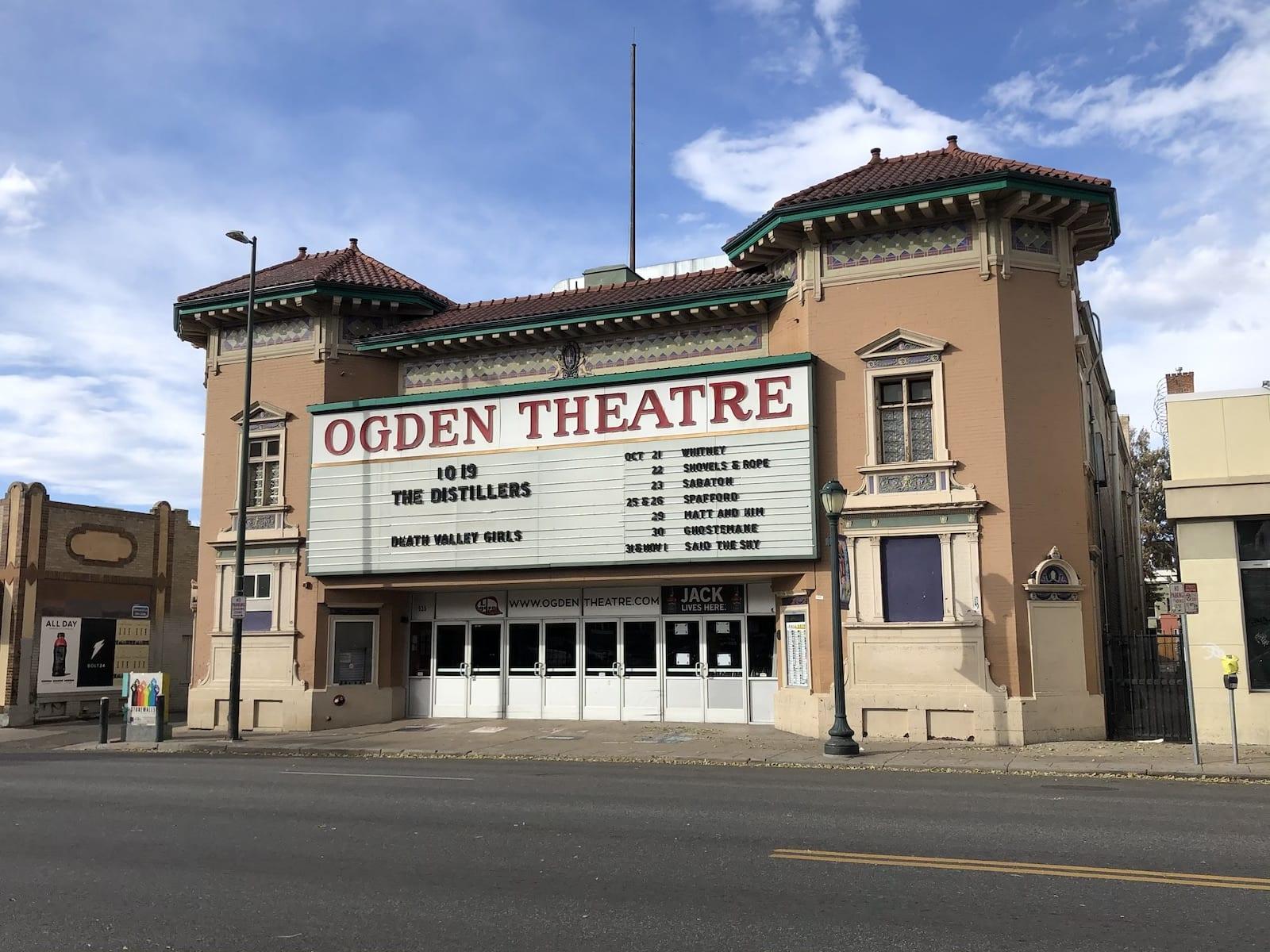 Ogden Theatre Denver CO
