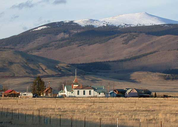 Town of Jefferson Colorado At Base of Mountains