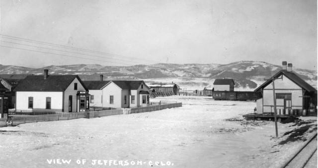 Town of Jefferson Colorado Early 1900s